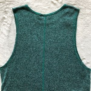 Topshop Tops - Topshop Heather Green Knit Muscle Crop Tank Top
